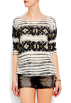 Mango Shirts -  Mango Women's Decorative Print Jumper Neutral