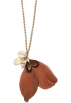 Mango Necklaces -  Mango Women's Feather And Shell Necklace