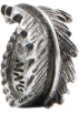Mango Rings -  Mango Women's Leat Ring Silver