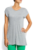 Mango T-shirts -  Mango Women's Round Neck T-shirt GUNMETAL GREY
