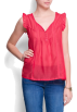 Mango Top -  Mango Women's Ruffled Blouse Red