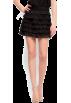 Mango Skirts -  Mango Women's Ruffles Miniskirt Black