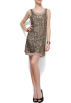 Mango Dresses -  Mango Women's Sequins Layered Dress Gold