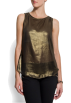 Mango Camiseta sem manga -  Mango Women's Shiny Top Gold