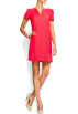 Mango Obleke -  Mango Women's Straight-cut Dress Coral