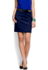 Mango Skirts -  Mango Women's Straight-cut Skirt Navy