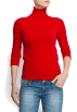Mango Camisas manga larga -  Mango Women's Turtleneck Jumper Red