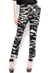 Mango Pants -  Mango Women's Zebra Print Trousers Black