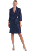 FineBrandShop Dresses -  Navy Blue Mother of Bride Dress Stone Trim