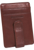 Osgoode Marley  -  Osgoode Marley Cashmere ID Front Wallet Pocket Clip Wallet Brandy