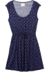 Quiksilver Obleke -  Quiksilver Women's Swan Leaves Dress Navy/ Blue