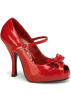 Pin Up Couture Sandals -  Red Open Toe Mary Jane Pump - 6
