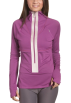 Roxy Long sleeves shirts -  Roxy Athletix Juniors' Run Roxy Run Reflective Shell Rasberry