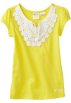 Roxy T-shirts -  Roxy Kids Girls 2-6x Spring Showers Tee Sunglow Yellow