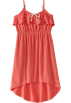 Roxy Vestidos -  Roxy Kids Girls 7-16 Flip Flops Dress Bright Coral