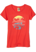 Roxy Camisola - curta -  Roxy Kids Girls 7-16 Global Scene-Hawaii Tee Red