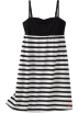 Roxy Vestidos -  Roxy Kids Girls 7-16 Miss You Tank Dress Black/White Stripe