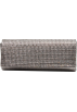 Scarleton Clutch bags -  Scarleton Rhinestone Flap Clutch H3016 Grey