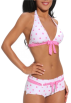 Hot from Hollywood Swimsuit -  Sexy Retro Polka Dot Two Piece Hipster Bikini Swimwear