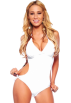 Hot from Hollywood Swimsuit -  Sexy Womens Halter Side Cut Out Monokini Swimwear Bikini