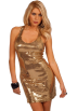 Hot from Hollywood Dresses -  Sleeveless Fitted Low Cut Rounded Neckline Sequin Evening Cocktail Party Dress