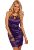 Hot from Hollywood Dresses -  Sleeveless Lace Keyhole Neckline Fitted Design Evening Cocktail Party Mini Dress