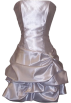 PacificPlex Dresses -  Strapless Satin Bubble Dress Prom Formal Holiday Party Cocktail Gown Bridesmaid Silver