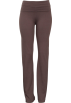 PacificPlex Pants -  Stretch Cotton Yoga Pants Rhinestone Cross Design Charcoal