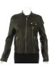 Tommy Hilfiger Jakne i kaputi -  Tommy Hilfiger Leather Zip Closure Jacket Black