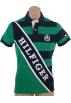 Tommy Hilfiger T-shirts -  Tommy Hilfiger Men Custom Fit striped Logo Polo T-shirt Green/Navy