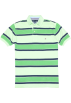 Tommy Hilfiger T-shirts -  Tommy Hilfiger Men Striped Logo Polo T-shirt Green/Navy