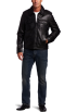Tommy Hilfiger Jacket - coats -  Tommy Hilfiger Men's Lamb 2 Pocket Moto Jacket Black