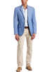 Tommy Hilfiger Jacket - coats -  Tommy Hilfiger Men's Trim Fit 2 Button Side Vent Chambray Sport Coat Blue
