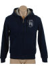 Tommy Hilfiger Long sleeves shirts -  Tommy Hilfiger Mens Fur Lined Full Zip Hooded Sweatshirt Navy blue