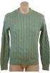 Tommy Hilfiger Pullovers -  Tommy Hilfiger Mens Long Sleeve Cable Knit Pullover Sweater Green
