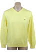Tommy Hilfiger Pullovers -  Tommy Hilfiger Mens Long Sleeve Pacific V-Neck Pullover Sweater Yellow