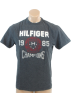 Tommy Hilfiger T-shirts -  Tommy Hilfiger Mens Regular Fit Short Sleve T-Shirt Grey