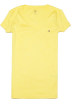 Tommy Hilfiger T-shirts -  Tommy Hilfiger Slim Fit V-neck Women Logo T-shirt Yellow