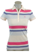 Tommy Hilfiger Shirts -  Tommy Hilfiger Women Classic Fit Knit Logo Polo Shirt Peach/Pink/Purple...