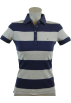 Tommy Hilfiger Shirts -  Tommy Hilfiger Women Classic Fit Logo Polo Shirt Navy/Gray