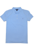 Tommy Hilfiger T-shirts -  Tommy Hilfiger Women Classic Fit Logo Polo T-Shirt Light Blue