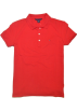 Tommy Hilfiger T-shirts -  Tommy Hilfiger Women Classic Fit Logo Polo T-Shirt Red
