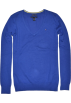 Tommy Hilfiger Pullovers -  Tommy Hilfiger Women V-neck Logo Pima Cotton Sweater Pullover Royal Blue