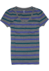 Tommy Hilfiger T-shirts -  Tommy Hilfiger Women V-neck Striped T-shirt Grey/purple/green