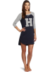 Tommy Hilfiger sukienki -  Tommy Hilfiger Women's Baseball Sleep Dress Heather Navy