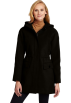 Tommy Hilfiger Chaquetas -  Tommy Hilfiger Women's Hooded Anorak Coat Black