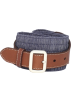 Tommy Hilfiger Belt -  Tommy Hilfiger Women's Pleated Fabric Belt Chambray