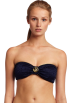 Tommy Hilfiger Swimsuit -  Tommy Hilfiger Women's Removable Soft Cup Bandeau Top Navy