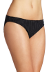 Tommy Hilfiger Underwear -  Tommy Hilfiger Women's Ruched Bikini Black Pindot