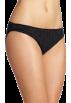 Tommy Hilfiger Underwear -  Tommy Hilfiger Women's Ruched Bikini Black Pindot